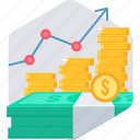 business, grow, growing, growth, money, profit, revenue icon
