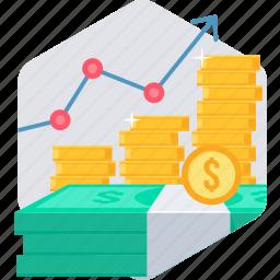 business, grow, growing, growth, money, profit, revenue icon