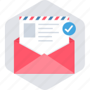 communication, envelope, inbox, letter, message icon