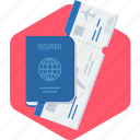 card, id, identity, passport, visa icon
