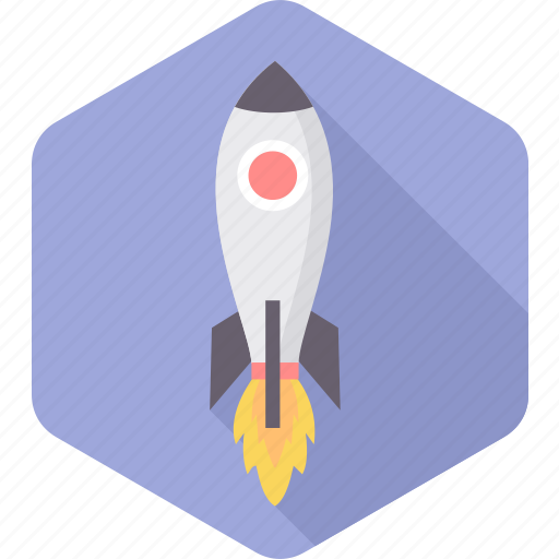 astronomy, launch, missile, rocket, space, spacecraft, startup icon