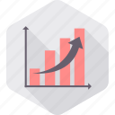 analytics, business, chart, diagram, growth, line, report icon