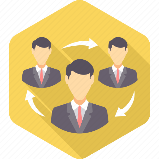 business, cycle, job, office, project, team, work icon