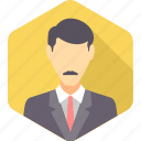 business, businessman, face, man, office, person, user icon