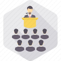 classroom, communication, convey, interaction, message, speech, talk icon