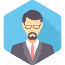 account, accountant, boss, business, businessman, client, manager icon