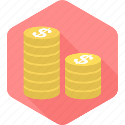 cash, coins, currency, dollar, gambling, money, payment icon