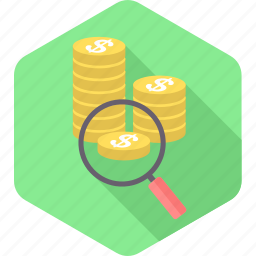 business, cash, currency, find, money, revenue, search icon