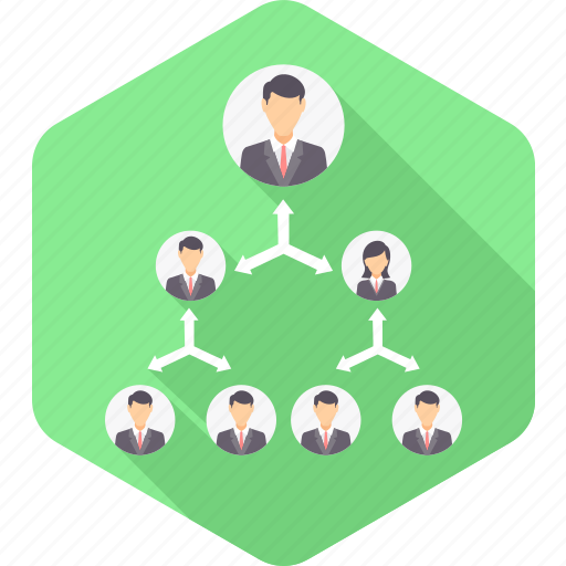 business, hierarchy, management, office, organization, people, structure icon