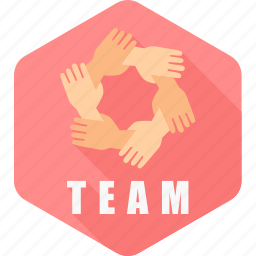 business, gesture, group, hand, team, teamwork, together icon