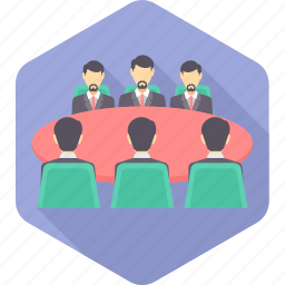business, conference, group, joint, meet, meeting, team icon