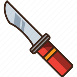 camping, knife, protect, survive, trekking icon