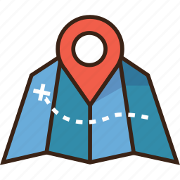 camping, destination, map, maps, pin, trekking icon