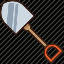 camping, digging, farm, gardening, shovel, tool, trekking icon