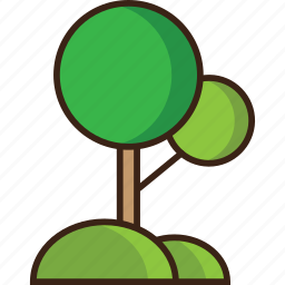 environment, green, nature, space, tree, trees, trekking icon