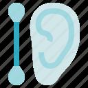 buds, cotton ear, hygiene, stick icon