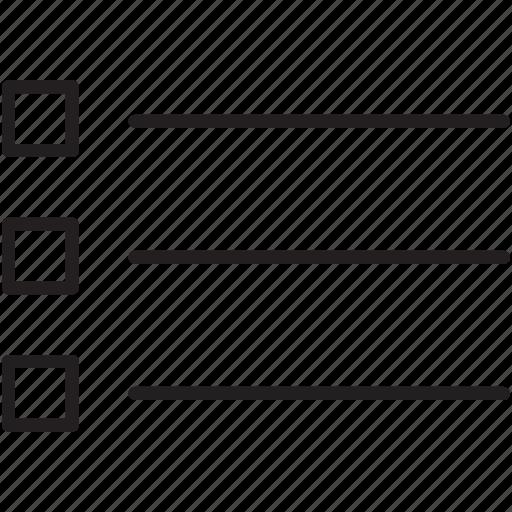 bullet, checklist, hierarchy, lines, organize, square, text icon