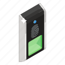authentication, biometric access, biometric attendance, biometric identification, biometry, fingerprint scanner, thumb verification icon