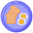 food, meal, breakfast, brunch, edible icon