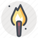 fire, flame, heat, hiking, light, torch icon