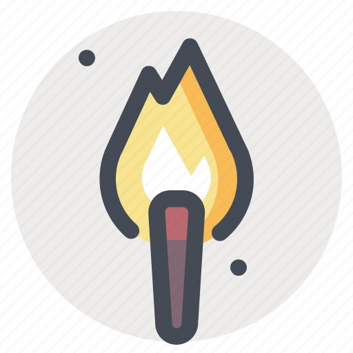 adventure, fire, flame, heat, hiking, light, torch icon