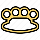 brass, fist, knuckles, steel, violence icon