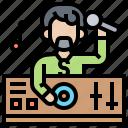 club, concert, disc, jockey, party icon