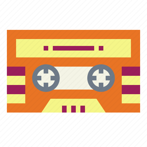 cassette, music, retro, tape icon