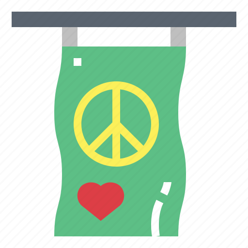 circular, flags, peace, shapes icon