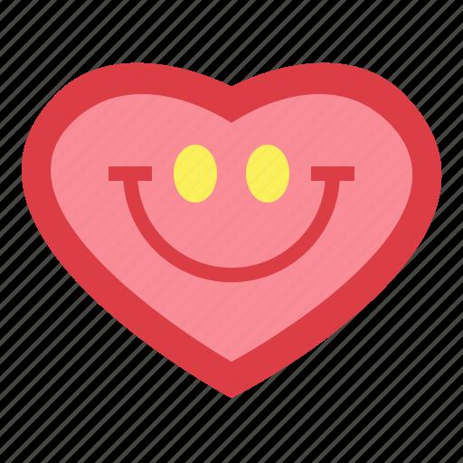 happy, heart, love, peace icon