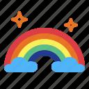 atmospheric, nature, rainbow, weather