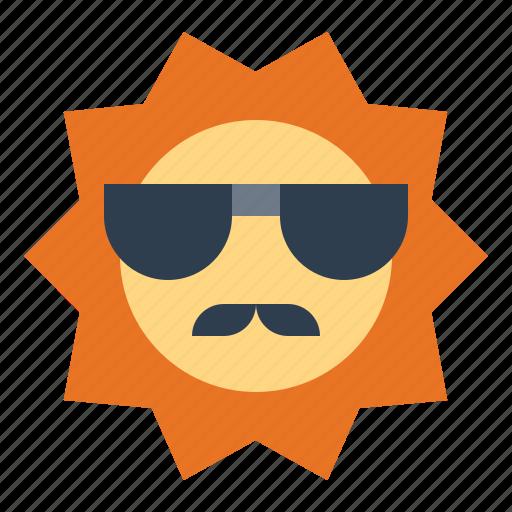 summer, sun, warm, weather icon
