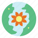 earth, flower, globe, world icon