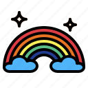 atmospheric, nature, rainbow, weather icon