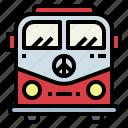 car, hippie, truck, van