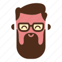 face, glasses, hipster beard, man, moustache, user icon