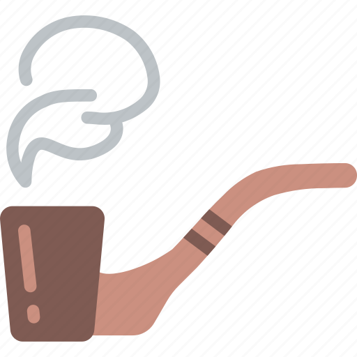 hipster, pipe, retro, smoke, style, vintage icon
