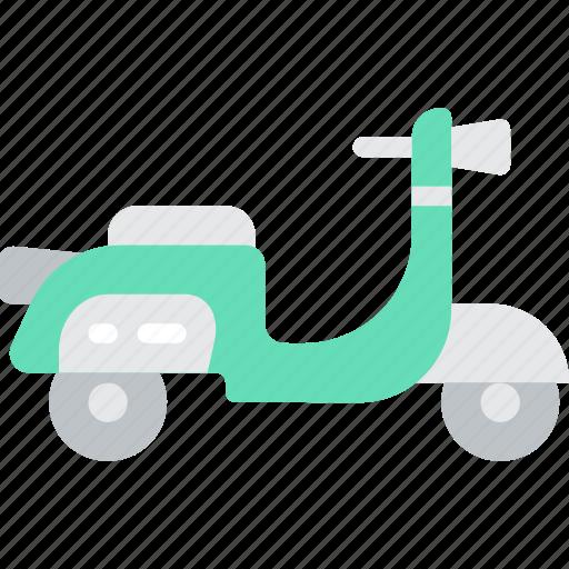 hipster, piaggio, scooter, transport, vespa icon