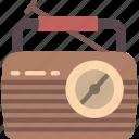 hipster, radio, retro, style, vintage icon