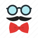character, doodle, gentleman, glasses, hipster, set, style