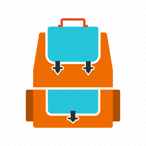 backpack, bag, journey, object, travel icon