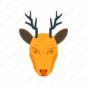 animal, decoration, deer, hornes, moose, reindeer, winter icon