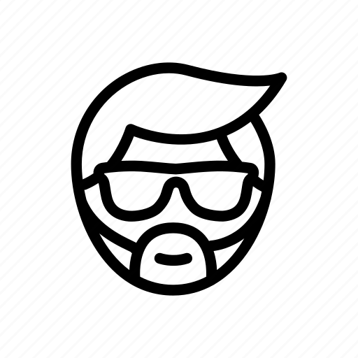 beard, face, head, hipster, moustache, mustache, person icon