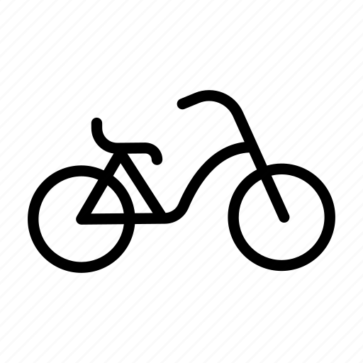 bicycle, bike, biker, cruiser, hipster icon