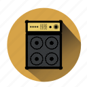 amplifier, listen music, music, noise, sound, speaker, volume icon