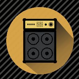 amplifier, listen music, music, noise, sound, speaker, volume icon