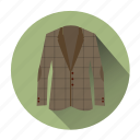 blazer, clothe, coat, jacket, retro, vintage clothe, wear icon