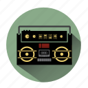 boombox, ghetto blaster, music, radio, sound, speaker, volume icon