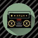 boombox, ghetto blaster, music, radio, sound, speaker, volume