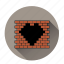 brick wall, heart, like, love, romantic, valentines, wall like icon